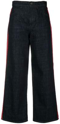 Marni stripe detail wide leg jeans