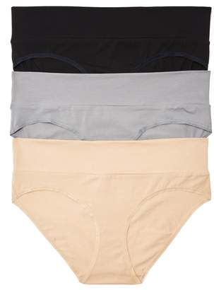 Motherhood Maternity Web Only Plus Size Maternity Fold Over Panties (3 Pack)