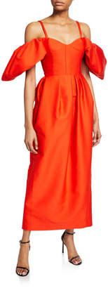 Rosie Assoulin Off-the-Shoulder Cocktail Dress
