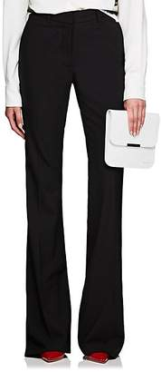 Victoria Beckham Women's Worsted Wool Flared Trousers - Black