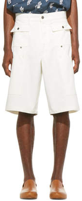 Jacquemus SSENSE Exclusive White Denim Le Short Pecheur Shorts