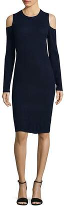 Saks Fifth Avenue Women's Wool and Cashmere Cold Shoulder Dress