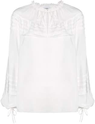 Dondup ruffle tie detail blouse