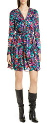 Jason Wu Motion Floral Long Sleeve Dress