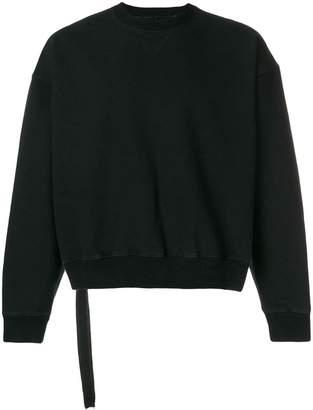 Unravel Project cropped long sleeve sweatshirt