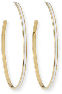 Tai Enamel Hoop Earrings