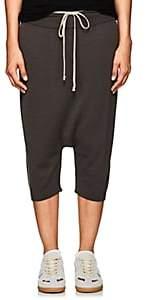 Rick Owens Women's Wool Drop-Rise Crop Pants - Dark Gray