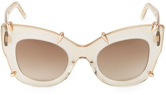 Pomellato 48MM Oversized Clear Cat Eye Sunglasses