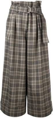 ADAM by Adam Lippes plaid wide-leg trousers