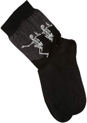 Alexander McQueen Skeleton Print Socks