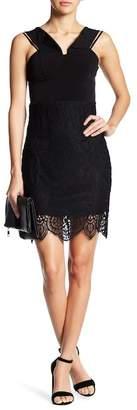 Trixxi Cold-Shoulder Lace Minidress