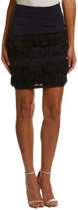 Eva Franco Fringe Mini Skirt