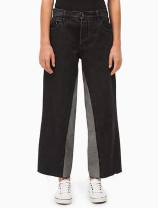 Calvin Klein relaxed black high rise jeans