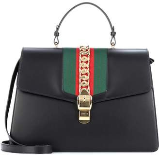Gucci Sylvie Maxi leather top handle bag