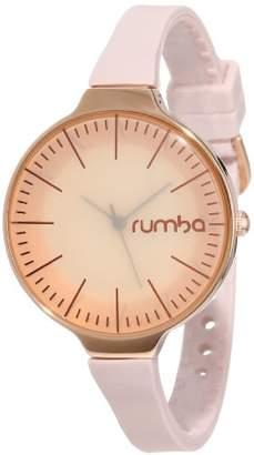 RumbaTime Women's Orchard Rose Gold-Tone Smoke Analog-Display Japanese-Quartz Watch
