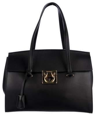 Salvatore Ferragamo Leather Mara Tote Black Leather Mara Tote