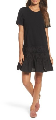 Women's Chelsea28 Smocked T-Shirt Dress $89 thestylecure.com