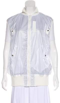 Sacai Luck Grosgrain-Accented Zip-Up Vest