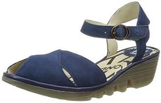 Fly London Women's PERO706FLY Heels Sandals, Black 001, 38 EU