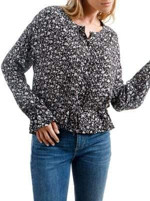 Lucky Brand Floral Long-Sleeve Blouse