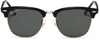 Ray-Ban 'Clubmaster Classic' metal rim acetate square sunglasses