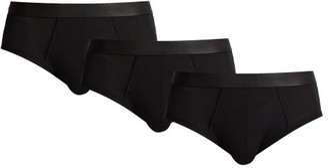 Cdlp - Set Of Three Stretch Jersey Briefs - Mens - Black