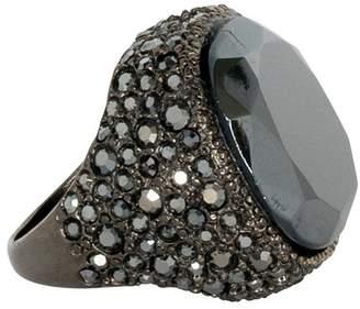 Kenneth Jay Lane Hematite Center Ring