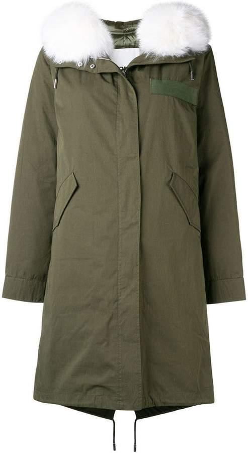 Yves Salomon fur collared coat