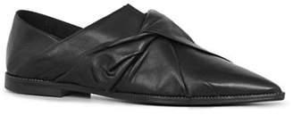 AllSaints Alia Leather Point Toe Flats