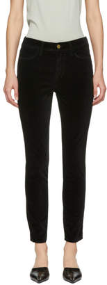 Frame Black Le Velveteen High Skinny Jeans