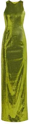 Galvan Reflection Sequined Dress - Womens - Green