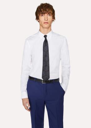 Paul Smith Men's Slim-Fit White 'Sun' Jacquard Shirt