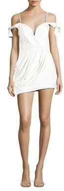 Zimmermann Winsome Silk Draped Cold-Shoulder Dress $580 thestylecure.com