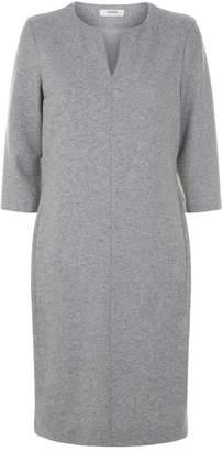 Peserico Wool V-Neck Dress