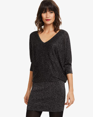Phase Eight Becca V Neck Shimmer Knit Dress