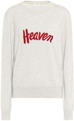 Saint Laurent Embroidered wool sweater