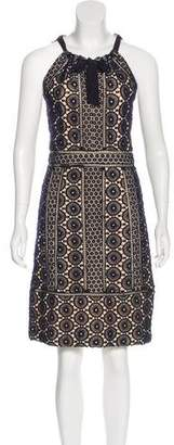 Tory Burch Silk-Trimmed Macramé Dress