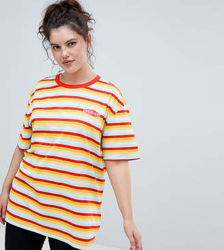 Puma Plus Exclusive Organic Cotton Rainbow Stripes T-Shirt