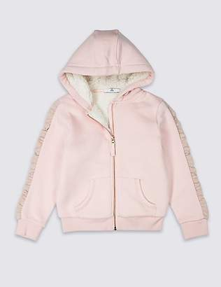 Marks and Spencer Borg Hooded Top (3-16 Years)