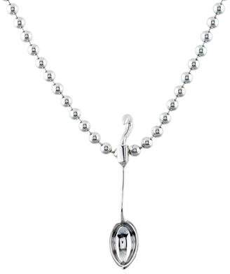 Eddie Borgo Hooked Spoon Pendant Necklace
