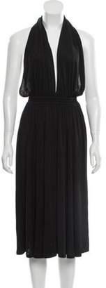 Celine Halter Jersey Dress Black Halter Jersey Dress
