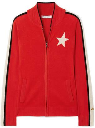 Bella Freud Billie Striped Cashmere Track Jacket - Red