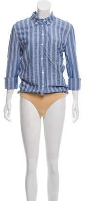 Veronica Beard Striped Button Up Bodysuit w/ Tags