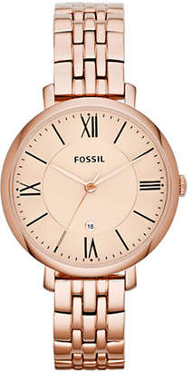 Fossil Jacqueline Three Hand Stainless Steel Watch Rose