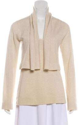Donna Karan Metallic Cashmere Cardigan Set