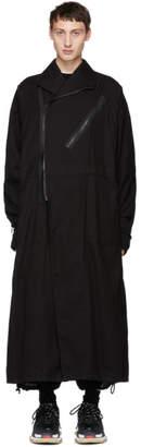 Julius Black Asymmetric Collar Coat