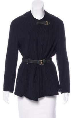 Isabel Marant Short Leather-Trimmed Coat