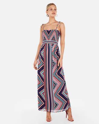 e1e68f07e592d Express Chevron Stripe Smocked Bodice Maxi Dress