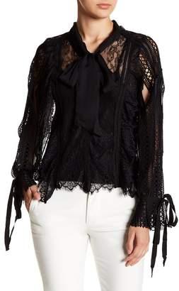 Gracia Eyelet Lace Necktie Blouse