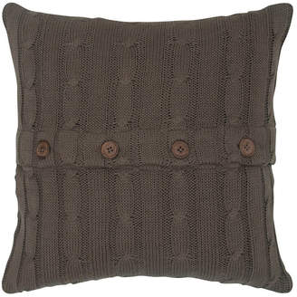 """Rizzy Home Brown 18"""" X 18"""" Cable Knit Pillow Cover"""